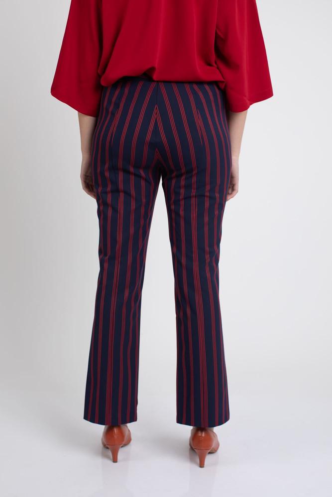 תמונה של מכנסי PAIGE נייבי פסים